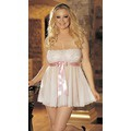 Пеньюар Tie-Front Stretch Lace And Mesh Babydoll