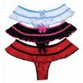Откровенные эластичные кружевные трусики Stretch Lace Open Front Panty