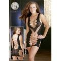 Мини-платье из кружевной сетки Minikleid Diagonal