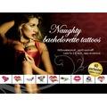 Набор временных татуировок Tattoo Set Naughty Bachelorette, 40 шт