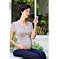 Футболка с V-образным вырезом с защитой от ежедневного излучения для беременных Rouched Maternity Tee